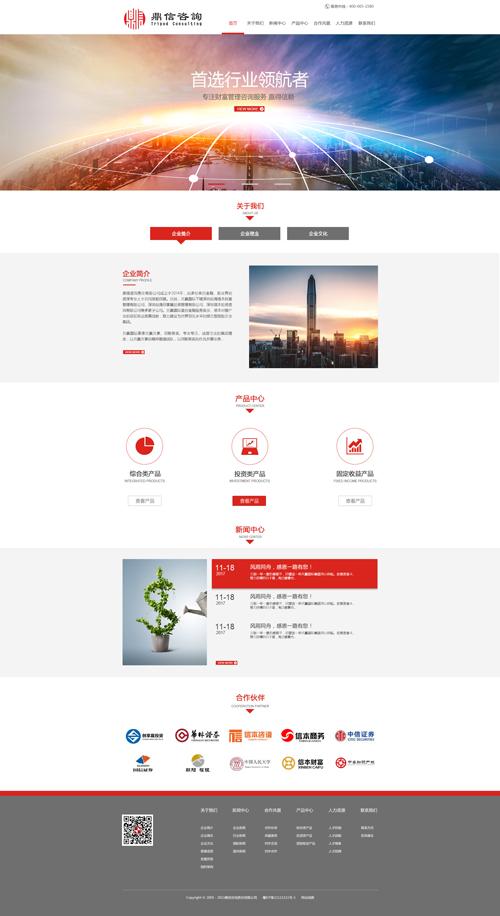 金融咨询网站建设